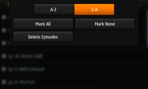 Episodes List Menu