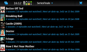 SeriesFinale with shows' art