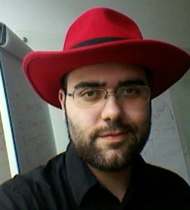 With my Red Hat fedora